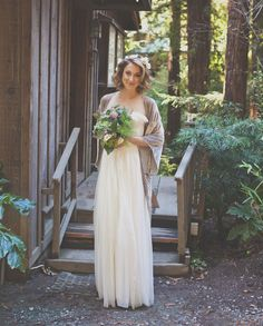 Charming Big Sur Elopement: Katherine + Brent, bride's shoes and accessories BHLDN #BHLDNbride