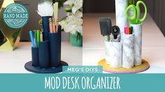 Make these mod desk organizers to keep your $h!t together! #DIY