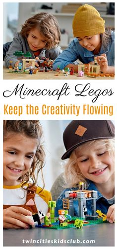 Twin Cities Kids Club Blogs: Minecraft Legos: Keep the Creativity Flowing - Before you start feeling guilty and put on the hair shirt, really let soak in this key point: getting creativity flowing in your child doesn't have to be hard. Inspiring creativity can be as natural as leveraging an interest your child already has. | kids | Games | Fun Games | Game Day | Indoor Games Indoor Games, Indoor Activities, Infant Activities, Educational Activities, Activities For 2 Year Olds, Fun Games For Kids, Shirt Hair, Children Toys, Learning Through Play