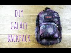 ▶ DIY Galaxy Backpack - YouTube -This would be neat to make t-shirts, too