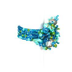 #Turkos #ring: inslag av #ljusblått, #grönt och borstad #metall, 90 kronor på masomenos.se