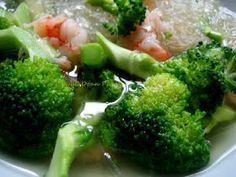 Beyond Wandering: Broccoli With Shrimp And Clear Noodle Soup
