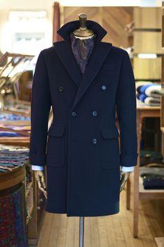 Double Breasted Wool Overcoat and Wool/Silk Paisley Bandana Both...