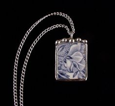 Broken china jewelry by Laura Beth Love Dishfunctional Designs Antique China, Vintage China, Broken China Jewelry, Jewelry Trends, Jewelry Ideas, Metal Jewelry, Dog Tag Necklace, Arts And Crafts, Jewelry Making