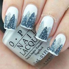 Christmas Nail Art (18) #nailart