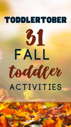 Toddlertober Bucket List: 31 Easy Peasy Fall Activities for Your Toddler To Do This October — Lorena & Lennox Bilingual Beginnings Autumn Activities, Toddler Activities, Toddler Chores, Toddler Boys, Twin Toddlers, Toddler Crafts, Family Activities, Mom Advice, Parenting Advice