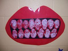 February is National Children's Dental Health Month teeth made our of handprints....Great for Dental Health Month! Love this!
