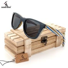BOBO BIRD Natural Wooden Sunglasses Men bamboo Sun glasses Women Brand Designer Original Wood Glasses  in Wooden Box