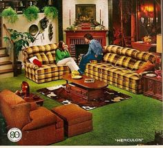 This is what 1970's country furniture looked like..  The couch was best sitting couch my mom ever had.