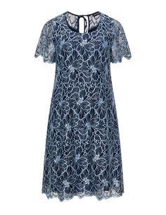Manon Baptiste Lace dress in Dark-Blue / Light-Blue