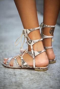 Schutz Lina Lace Up Sandal on shopstyle.com