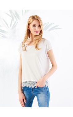 blouse | lace | white | MOHITO