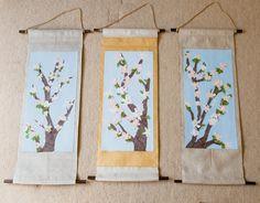 G3 collaborative art for auction - chigiri-e cherry blossoms