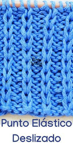 How to knit the Elastic Stitch Slipped in two needles Knitting Stitches, Knitting Needles, Baby Knitting, Knitting Patterns, Crochet Patterns, Irish Crochet, Knit Crochet, Crochet Hats, Cotton Club