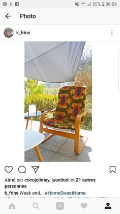 Customisation fauteuil  #ByMe #Wax #AfricanPrints