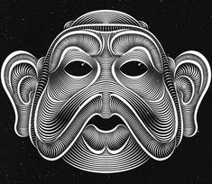 Creative Black and White Fonts Plus Line Illustrations by Patrick Seymour