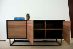 Midcentury modern sideboard walnut and black