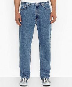 Levi's Men's 550 Relaxed Fit Jeans In Medium Stonewash Levis 550 Jeans, Jeans Fit, Mom Jeans, Photo Today, Tapered Jeans, Mens Big And Tall, Trendy Plus Size, Baby Clothes Shops