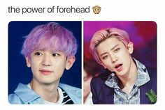 The power of Chanyeol's forehead is just, so strong