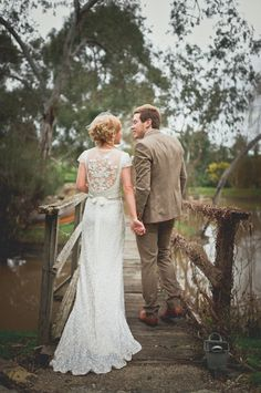 "This setting reminds me of the one from  ""Anne of Green and Gables""  and the back of this dress - swoon.  Vintage Rustic Wedding – Bek & Lee » The Vintage and Handmade Bride"
