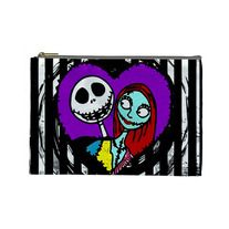 JACK & SALLY large cosmetic bag by Lttle Shop Of Horrors. GOTHIC, EMO, NIGHTMARE BEFORE CHRISTMAS, JACK, SALLY
