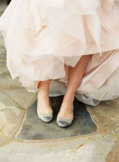 b3fc168ab The Vault: Curated & Refined Wedding Inspiration - Style Me Pretty Sparkly  Flats, Glitter