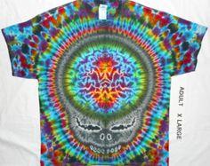Free Shipping - Handmade Stealie Head Tie Dye Shirt Xvr5a9On