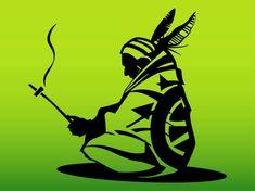Native American Man vector free