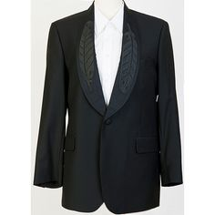 Mens Feather Lapel Tuxedo Jacket | Dorothy Grant Gold Label via Polyvore