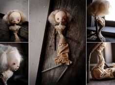 celeste [stone clay, wood, tussah silk fiber, textiles, 2011] - karly perez.
