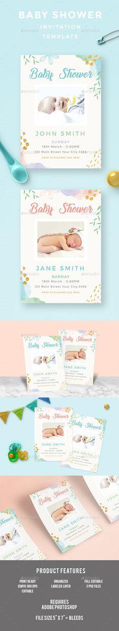 Minimalist Graduation Invitation Template, Postcard design and - birthday invitation card template photoshop