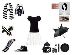 emo girl style .3. by mayleneholm on Polyvore featuring Precis Petite, Alice + Olivia, Converse, Michael Kors, By Terry and Barry M Emo Style, Girl Style, Emo Fashion, Girl Fashion, Barry M, Emo Girls, Alice Olivia, Converse, Michael Kors