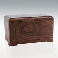 Hamilton Wood Cremation Urn - Engravable