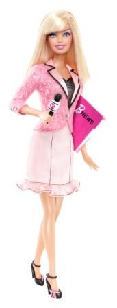 News Anchor Barbie! haha this is fabulous. The fact that I got a job as a news anchor for my first job is CRAZY! That was my goal for 10 years from now..