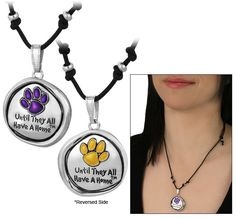 Until They All Have a Home™ Purple Paw Reversible Necklace
