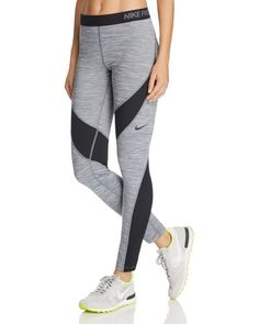 Don't let cold weather keep you from working out--Nike's Hyper Warm leggings hold the heat in while still wicking sweat for a comfortable fit when the temps drop. | Shell: polyester/spandex; panels: p