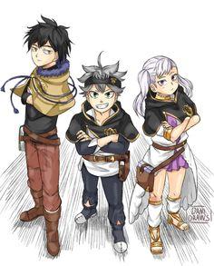 Asta Noelle and Yuno Otaku Anime, Manga Anime, Anime Art, Fanart, Black Clover Manga, Black Lagoon, Black Cover, Neon Genesis Evangelion, Anime Kawaii