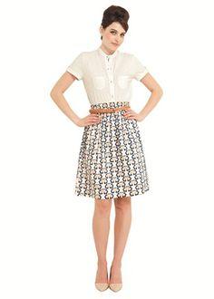 Orla Kiely Love Birds Print Skirt