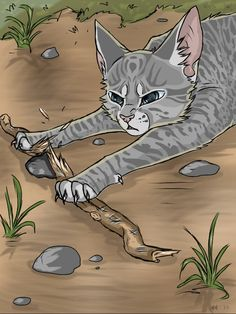 "Breaking the connection- when I saw this picture i almost yelled, ""NO Jayfeather don't do it!!"" at the computer."