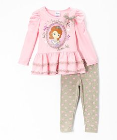 This Pink Sofia the First Skirted Tunic & Leggings - Girls is perfect! #zulilyfinds