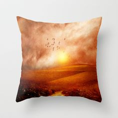 when the darkness, shine Throw Pillow by Viviana González - $20.00