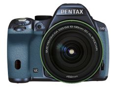 Pentax K-50 16MP Digital SLR 18-135mm Lens Kit METAL NAVY/AQUA 103