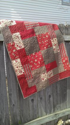gypsy (pattern) meets french general (fabric)---love these colors Quilt Baby, Rag Quilt, Quilt Blocks, Quilting Tips, Quilting Projects, Quilting Designs, Sewing Projects, Small Quilts, Easy Quilts