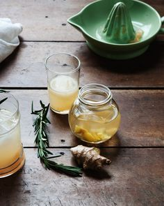 Ginger Grapefruit Rosemary Tonic | Free People Blog #freepeople