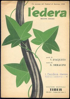 """spartito """"L'edera"""" (Nilla Pizzi), Sanremo Festival 1958"""