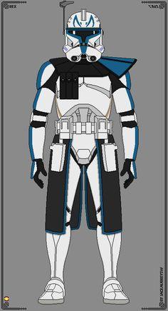 501st Legion - Captain Rex by JackAubreySW