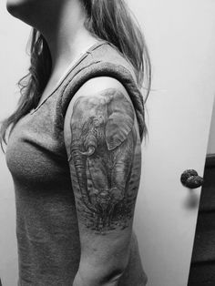 See 6 photos and 1 tip from 32 visitors to Prophecy Ink Tattoo Studio. Realistic Elephant Tattoo, Baby Elephant Tattoo, Elephant Tattoo Design, Mother Tattoos, Dad Tattoos, Girl Tattoos, Quarter Sleeve Tattoos, Tattoos For Women Half Sleeve, Elefant Tattoo