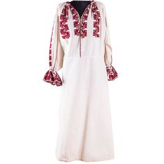 A vintage dress, in a very good shape that will make you feel special and precious! Feeling Special, Vintage Dresses, Embroidery, Romania, White Flowers, Unique, Ethnic, Red, How To Make