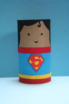 Pinterest has given me a whole new appreciation for toilet paper. Toilet Paper Roll TP Tube.... SUPERMAN