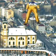 What a great shot. Innsbruck, Salzburg, Ski Jumping, Let's Have Fun, Central Europe, Great Shots, The Republic, Capital City, Alps